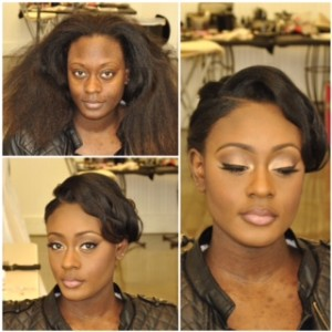 black bride makeup with natural makeup